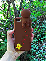 Чехол накладка Медведь для iPhone SE/5S/5