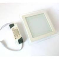 Точечный светодиодный светильник Glass Rim 12W квадратный