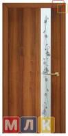 ОМИС Двери ламинированные финиш-пленкой Полотно с художественным травлением и фьюзингом Зеркало 2, 2000*700*34 мм