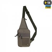 Сумка через плече для скрытого ношения оружия M-Tac с велкро олива
