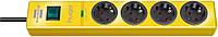 Сетевой фильтр 19500 А; 4 розетки; кабель 2 метра; желтый