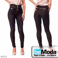 Эффектные брюки женские Black с высокой талией черные
