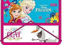 """Папка для тетрадей пласт. на резинке В5 """"Frozen"""" 491164"""