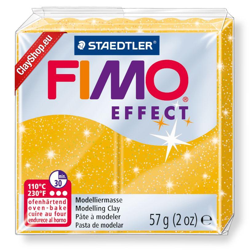 Брусок Fimo Effect золото с глиттером 112 - 56г