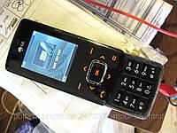 Слайдер LG KG800 рабочий, но без батареи, нет русского (с Дании), фото 1