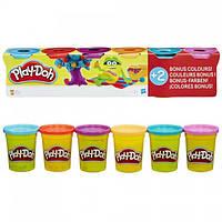 Набор пластилина Play-Doh 6 баночек общим весом 672 грамма (B6752). Оригинал Hasbro