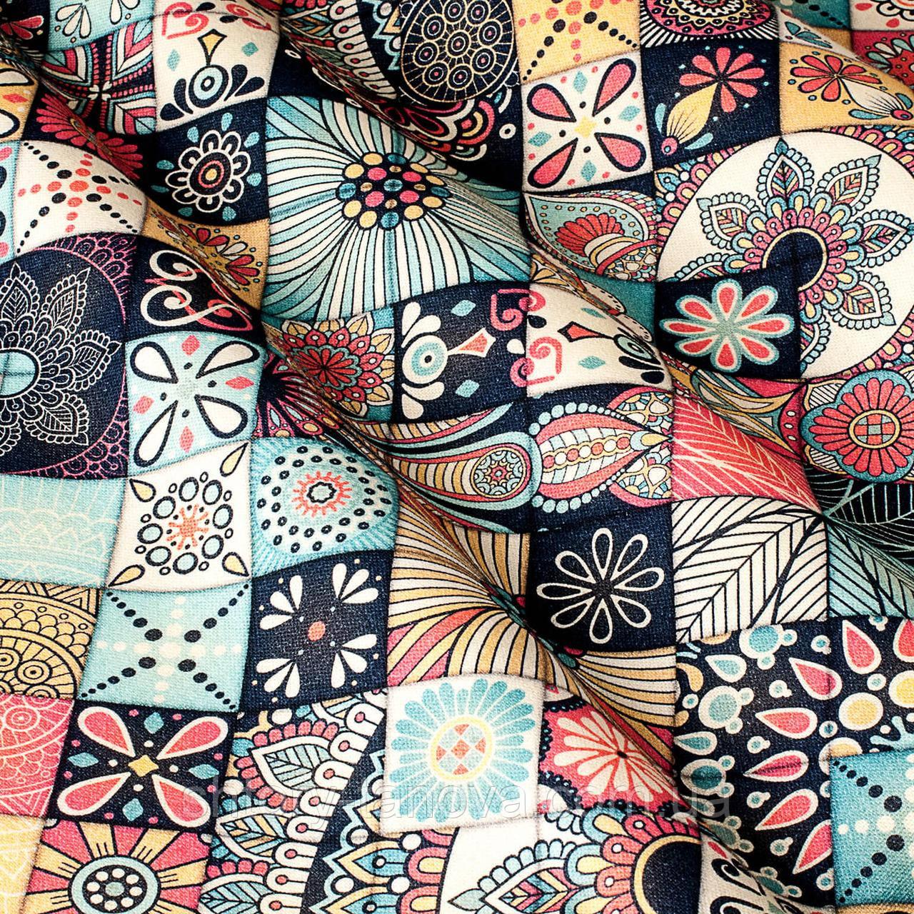 Декоративна тканина принт мозаїка