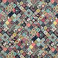 Декоративна тканина принт мозаїка, фото 2