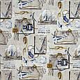 Декоративная ткань принт морская тематика, фото 2