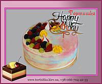 Торт на День Рождения с топпером