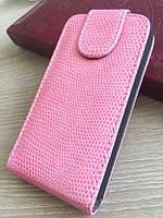 Розовый чехол-флип на магнитной застежке для Iphone 4/4S