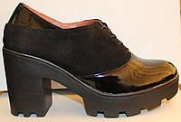Кожаные туфли женские замшевые на каблуке, кожаные женские туфли от производителя модель В1579