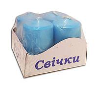 Свечи - столбы голубого цвета 40*60 мм