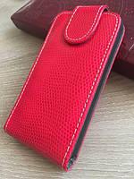 Красный чехол-флип на магнитной застежке для Iphone 4/4S, фото 1