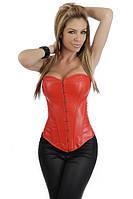 Красный кожаный корсет