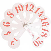 Пластиковый обучающий веер с цифрами