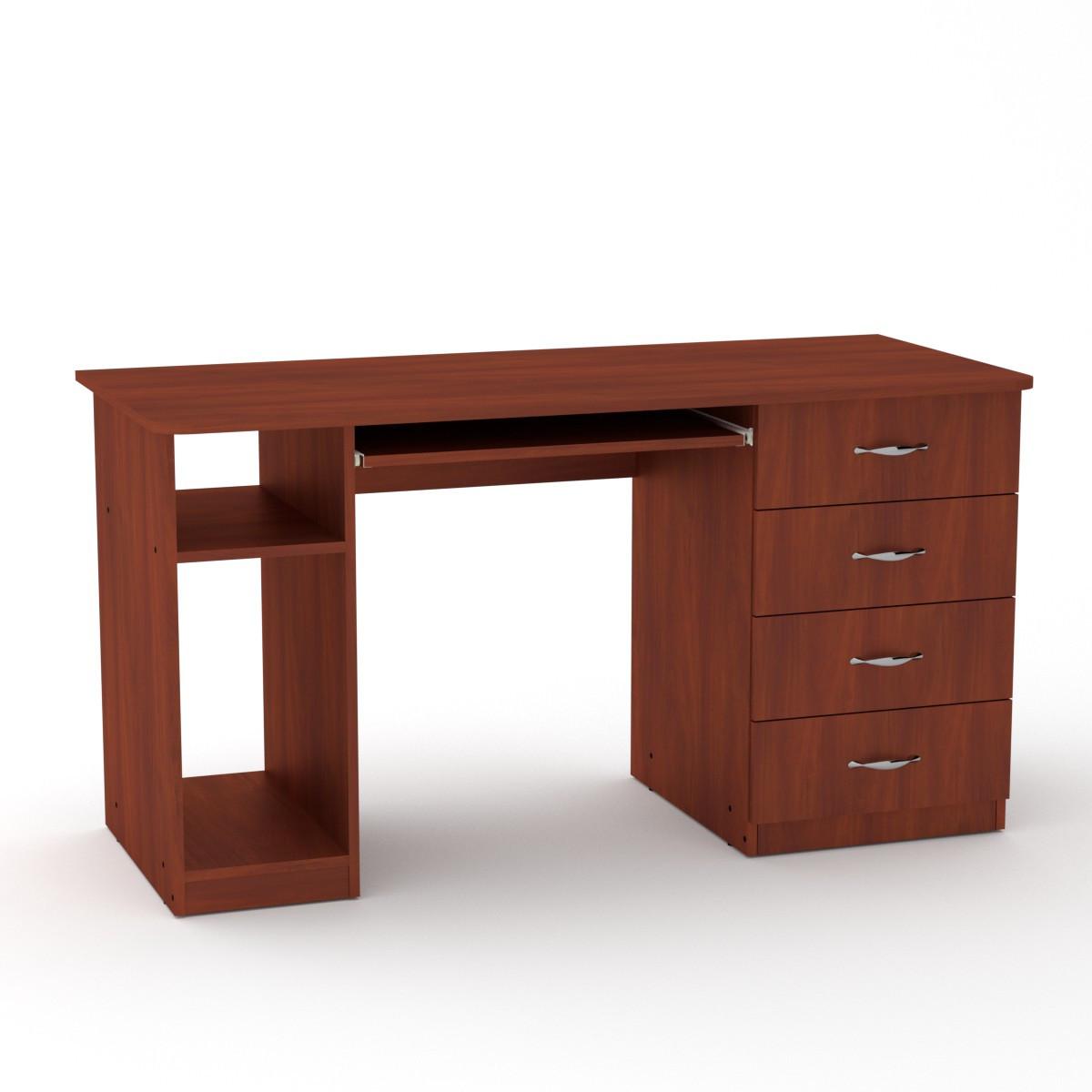 Стол компьютерный СКМ-11 яблоня Компанит (140х60х74 см)