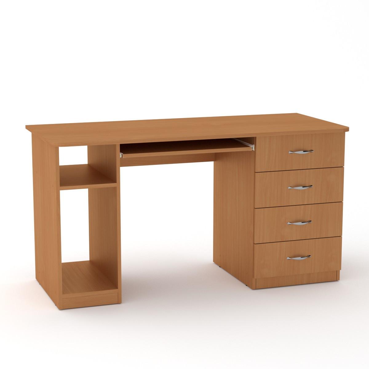 Стол компьютерный СКМ-11 бук Компанит (140х60х74 см)