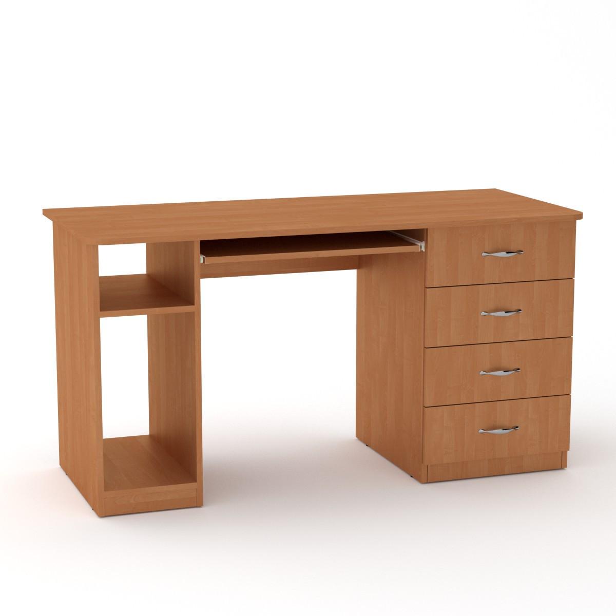 Стол компьютерный СКМ-11 ольха Компанит (140х60х74 см)