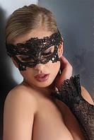 Черная кружевная маска