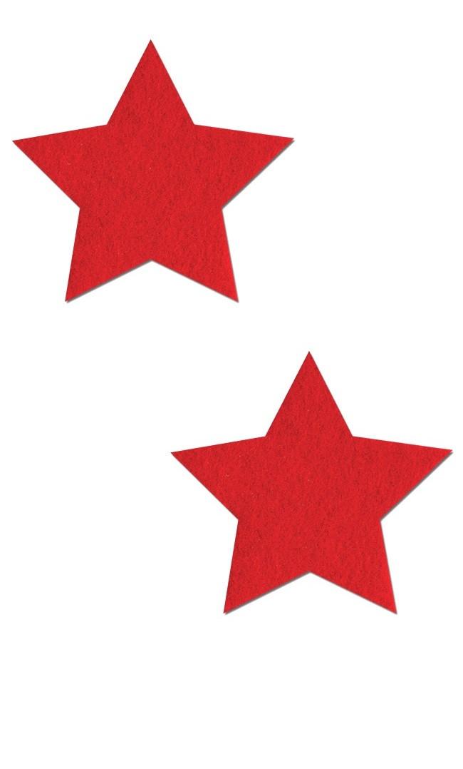 Наклейки на соски звездочки красные