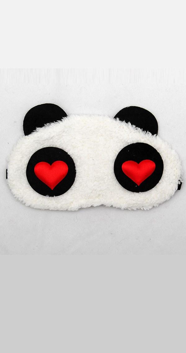 Маска для сна в виде влюбленной панды