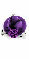 Мини шляпка фиолетовая