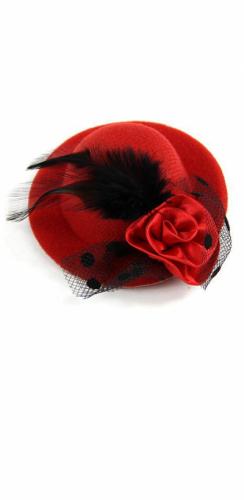 Міні капелюшок червона