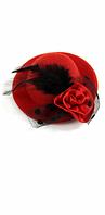 Мини шляпка красная
