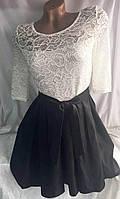 """Платье женское элегантное с гипюром, размеры 42-48 Серии """"Calipso"""" купить оптом и в розницу в Одессе на 7км"""