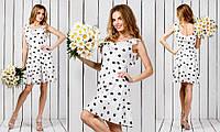 """Короткое летнее платье в цветочек """"Maxim"""" с оборками (2 цвета)"""