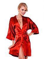 Атласный халат красный