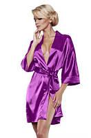 Атласный халат фиолетовый