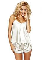 Атласная пижама белая