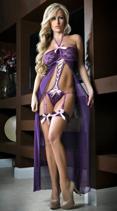 Боди комплект фиолетовый