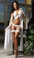 Белье с подвязками белое