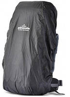 Накидка на рюкзак от дождя Pinguin Raincover M black из нейлона, черная, объем 35-55 л. PNG 3014. M black