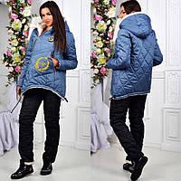Зимний женский костюм на овчине / тёплый спортивный лыжный костюм по цене производителя