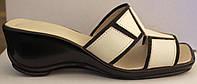 Летние женские сабо бежевые кожа, кожаная летняя обувь от производителя модель ВЛ69Р-1
