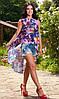 Пляжная туника с цветами - Фото