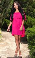 Пляжное платье малинового цвета
