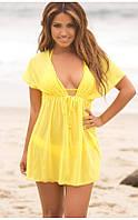 Пляжная туника желтая
