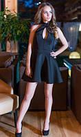 Неопреновое платье черное