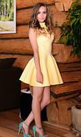 Неопреновое платье желтое