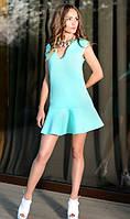 Платье из неопрена ментоловое