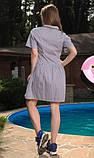 Сукня сорочка в біло-синю смужку, фото 2