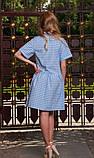 Сукня сорочка в біло-блакитну клітинку, фото 2
