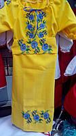 Детское вышитое платье Волошки (подросток)