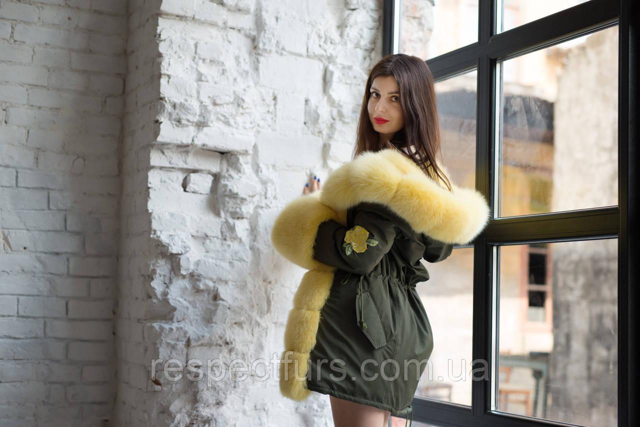 27452720 Куртка парка с натуральным мехом песца: продажа, цена в Днепре ...
