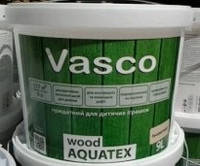 Лак для дерева Vasco Wood Aquatex, 9л. бесцветный